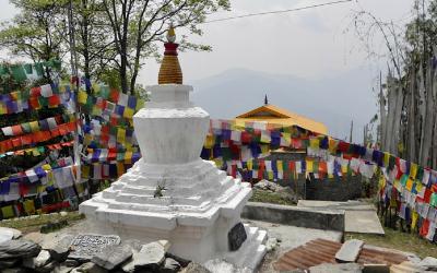 Tashiding klooster in Sikkim, Boeddhistisch India