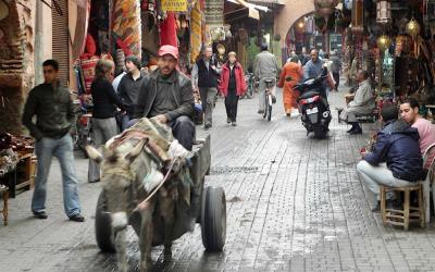 Besouk aan Marrakech, verdwalen in een wirwar van straatjes en steegjes