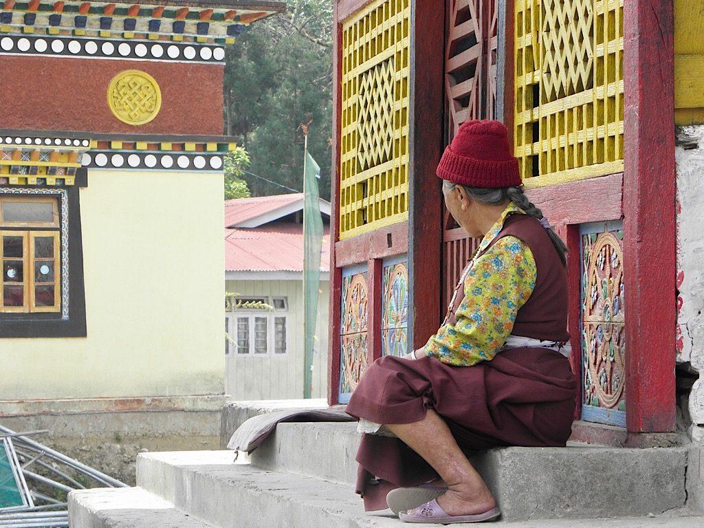 Tashiding klooster, Sikkim, India