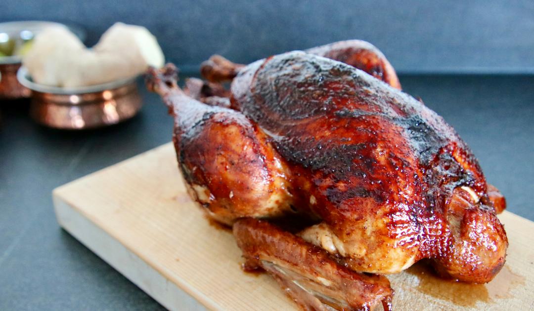 Hele kip uit de oven met Chinees vijfkruidenpoeder
