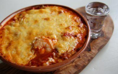 Karides guvec, Turkse garnalen met groenten en kaas