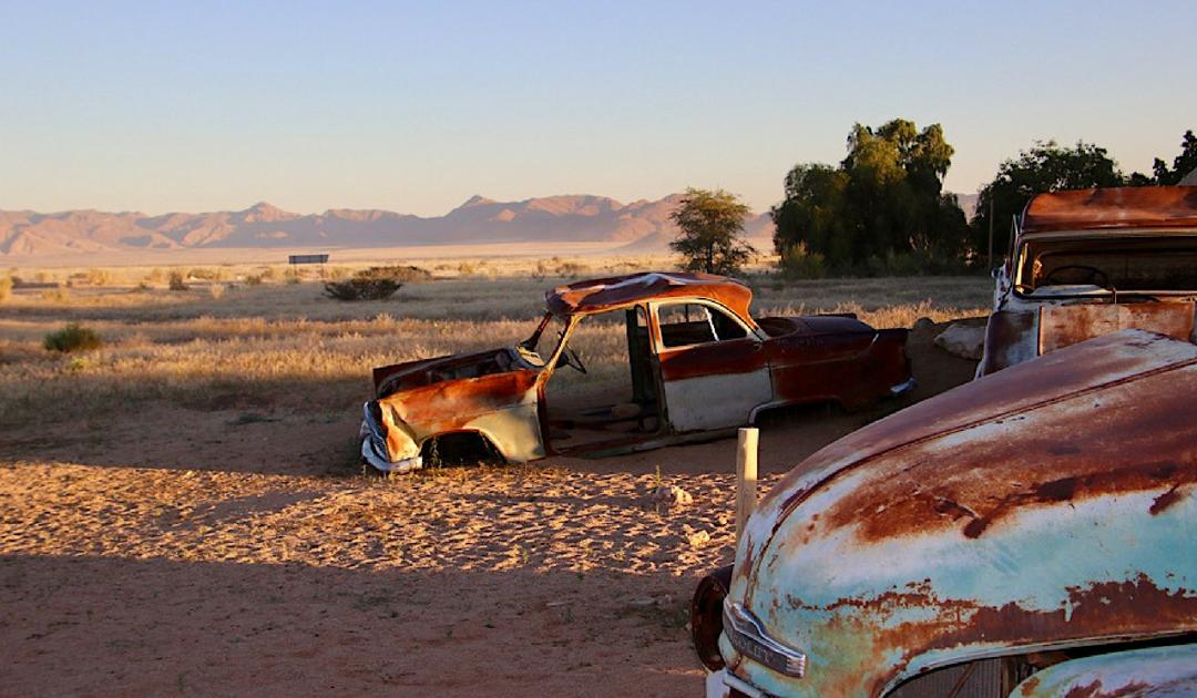 Appeltaart en diesel in de woestijn, Solitaire in Namibie