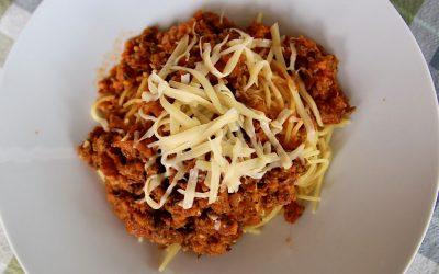 Spaghetti Bolognese met verse Italiaanse kruiden