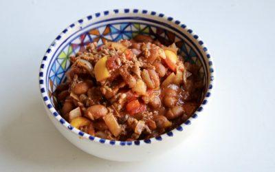 Chili con carne, met lekker veel groenten