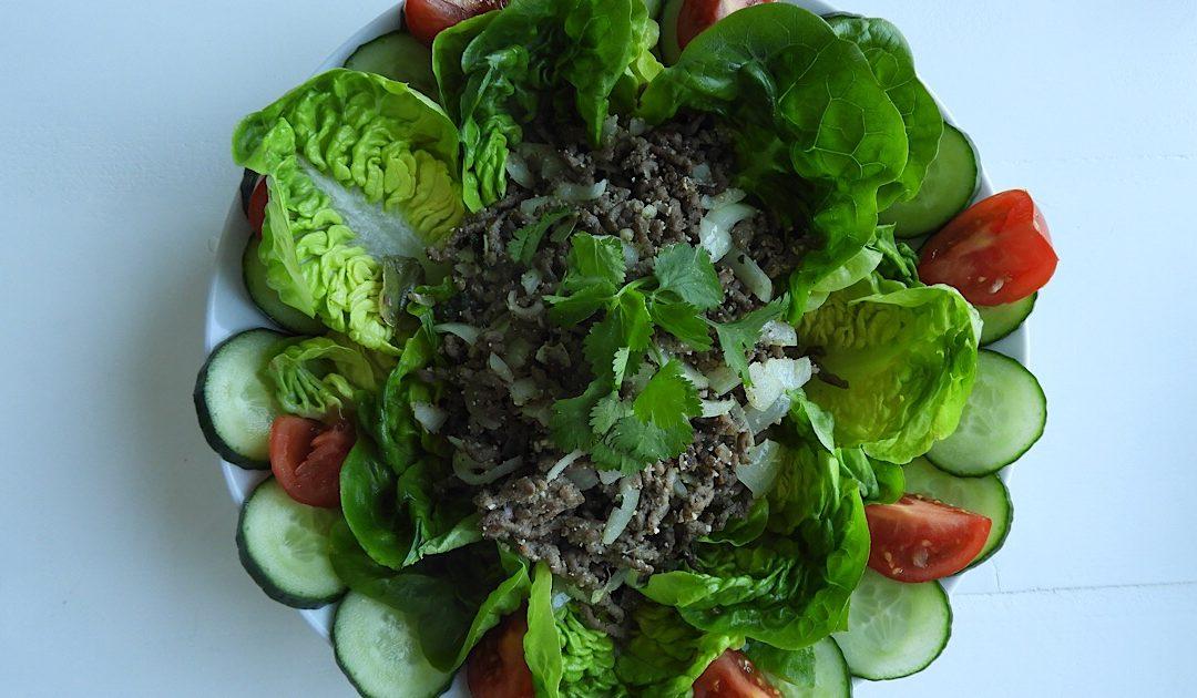 Time for Thai, Laab Nua, een gezonde Thaise salade met rundergehakt