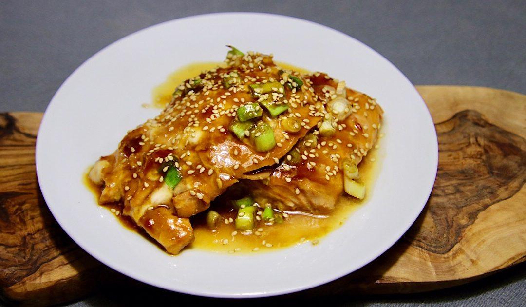 Zalm met Japanse terayaki saus
