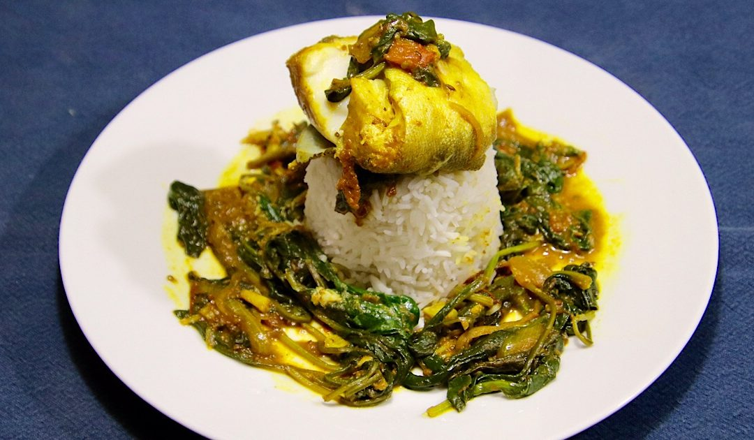 Indiase viscurry met spinazie