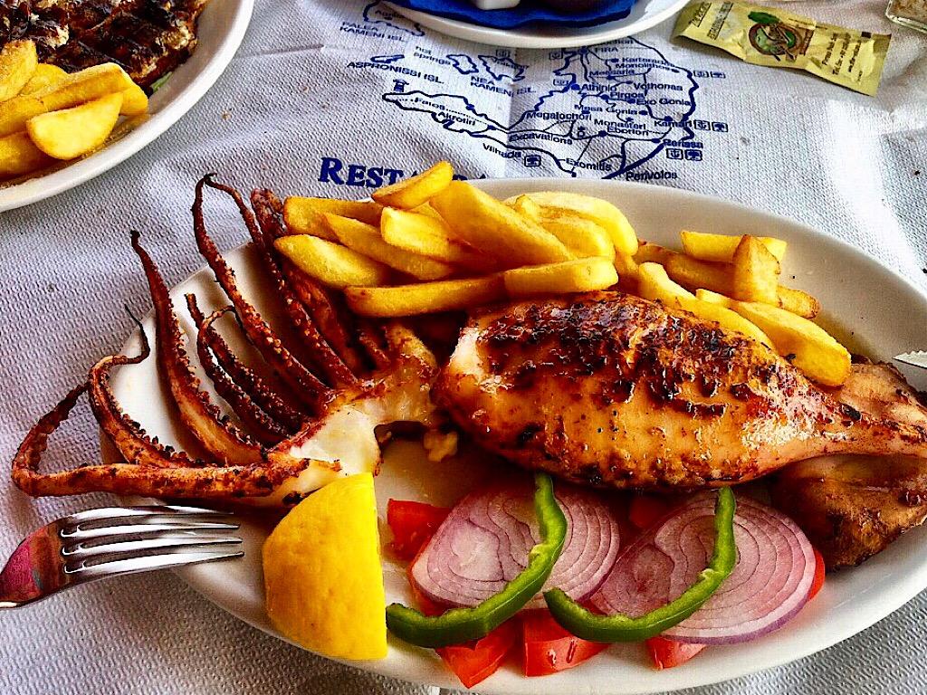 Grieks gevulde calamari