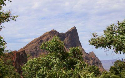 Het eiland Santiago, centrum van Kaapverdië