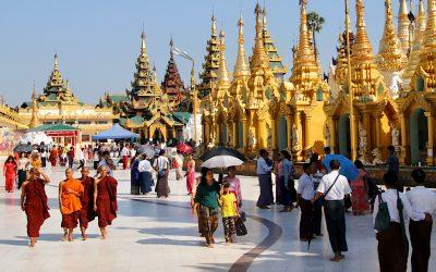 Schwedagon Paya in Yangon, alles is goud wat er blinkt